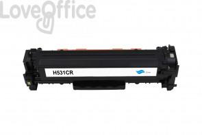 Toner Rigenerato HP 304A - CC531A Ciano - 2800 pagine