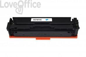 Toner HP 201X - CF401X ciano - 2300 pagine