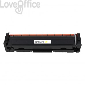 Toner Rigenerato HP 410A - CF412A giallo - 2300 pagine