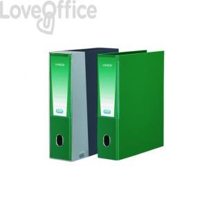 Registratore Unico con custodia Elba - Legale - 23x33 cm - dorso 8 - verde