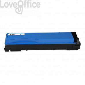 Toner Compatibile TK-540C Ciano kits Kyocera FS-C5100DN - 4000 Pagine