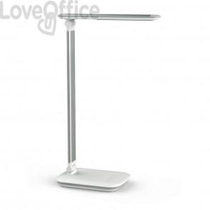 Lampada da scrivania MAUL a LED MAULjazzy, dimmerabile alluminio bianco 8 W, 410 Lm, 3000K - 8201802