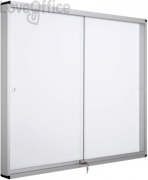 Bacheca magnetica Exhibit Bi-Office - 12xA4 - 158,6x96,7 cm - orizzontale