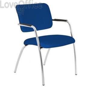 sedia da attesa blu ignifuga modello LITHIUM