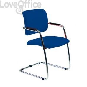 Sedia da ufficio blu modello LITHIUM in fili di luce