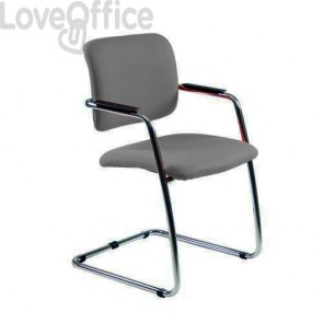 Sedia da ufficio grigia modello in fili di luce