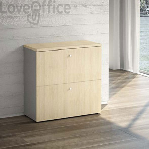 Mobile con cassetti classificatori - rovere - 90x40,1x87,7 cm