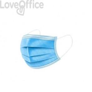 Mascherine chirurgiche monouso a 3 veli - blu-bianche conf. 50 pezzi