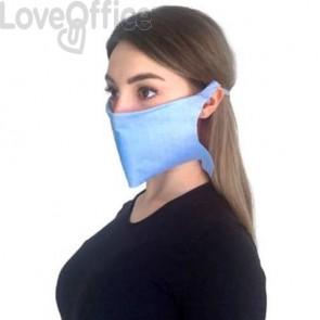 Mascherine di protezione monouso - colore azzurro - Conf. 50 pezzi - MCDF.01
