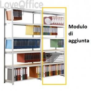 Scaffalatura metallica di aggiunta RANG'ECO SF Paperflow - 5 ripiani - 100x37x195 cm