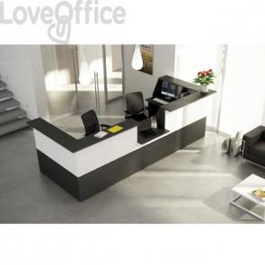 Bancone reception lineare 4 metri Musa Artexport -  NERO VENATO