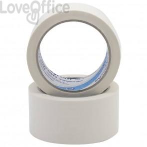 Nastri da imballo in PVC Syrom - silenzioso - 50 mm x 66 m - bianco - 50 my (conf.6)