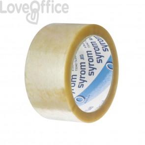 Nastri da imballo in PVC Syrom - silenzioso - Trasparente 50my (conf.6)