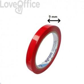 Nastro adesivo per chiusura sacchetti Syleco Syrom - 9 mm x 66 m - rosso (conf.16)
