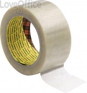 Nastri da imballo Scotch® in PVC a rumorosità ridotta 50 mm x 66 m - Trasparente (conf. 6)