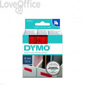 Nastro per etichettatrici Dymo D1 12 mm x 7 m Nero/Rosso
