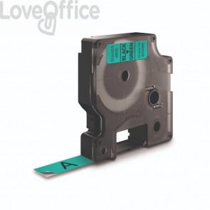 Nastro per etichettatrici Dymo D1 12 mm x 7 m Nero/Verde