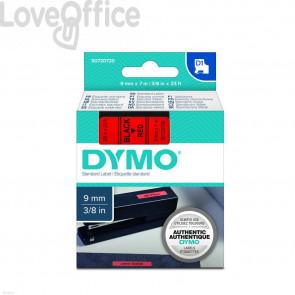 Nastro per etichettatrici Dymo D1 9 mm x 7 m Nero/Rosso S0720720