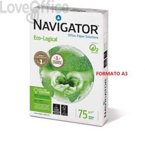 Risma carta Navigator eco-logical - A3 - 75 g/mq (500 fogli)