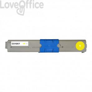 Toner Compatibile 44469704 giallo kits OKI - 2000 Pagine