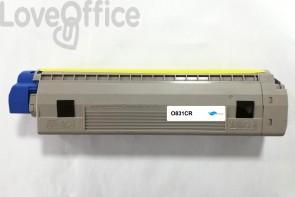 Toner rigenerato ciano per OKI 44844507 - 10000 Pagine
