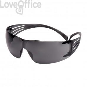 Occhiali di protezione antigraffio e anti-appannamento linea Classic SecureFit™ 3M - Grigio