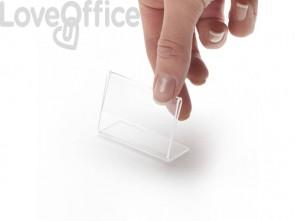 Porta-avvisi con base a L Deflecto® - A9 - Base a L orizzontale - 5,4x2,1x4,3 cm (conf.10)
