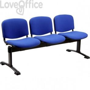 panca da attesa 4 posti blu
