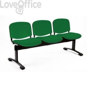 panca da attesa 4 posti di colore verde