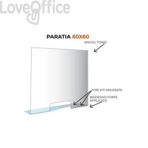 Paratia di protezione formato 60x60 cm trasparente