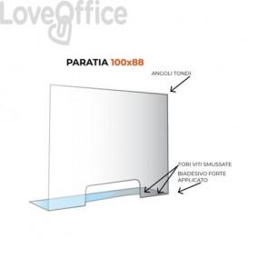 Paratia di protezione formato 100x88 cm trasparente