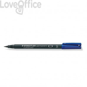Staedtler Lumocolor Permanent - pennarello indelebile punta fine - blu - superfine - 0,4 mm