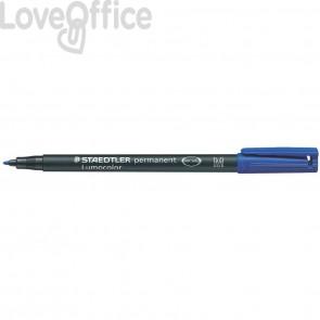 Penna a punta sintetica Staedtler Lumocolor permanent pen 317 M Blu