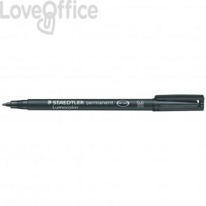 Penna a punta sintetica Staedtler Lumocolor permanent pen 317 M Nero