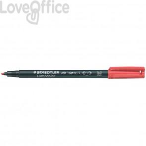 Penna a punta sintetica Staedtler Lumocolor permanent pen 317 M Rosso
