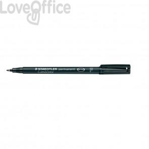 Penna a punta sintetica Staedtler Lumocolor permanent pen 318 F Nero