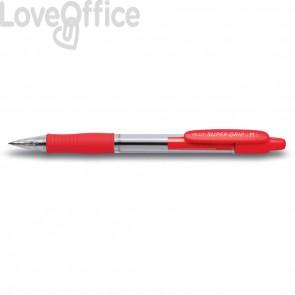 Penna a sfera a scatto Supergrip Pilot - 1 mm - Rosso