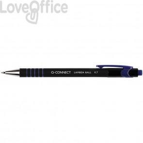 Penne a sfera a scatto Q-Connect Lamda 0,7 mm blu KF00673 (conf.12)