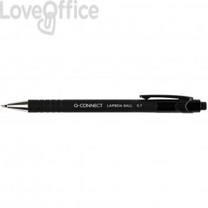 Penne a sfera a scatto Q-Connect Lamda 0,7 mm nero KF00672 (conf.12)