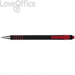 Penne a sfera a scatto Q-Connect Lamda 0,7 mm rosso KF00671 (conf.12)