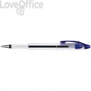 Penna a sfera Q-Connect Delta punta 0,7 mm Blu