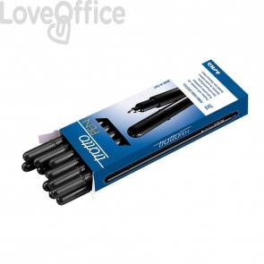 Penne Tratto Pen a punta sintetica - nero - 0,5 mm (conf.12)