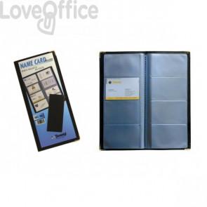 Portabiglietti da visita tascabili Tecnostyl - 96 posti - 11,5x25 cm (12 pagine)