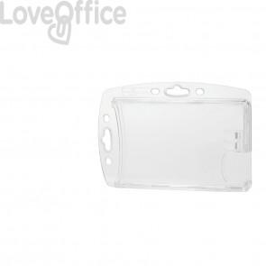 Portabadge DURABLE DUO acrilico trasparente per 2 tessere magnetiche e pass (conf. 10)