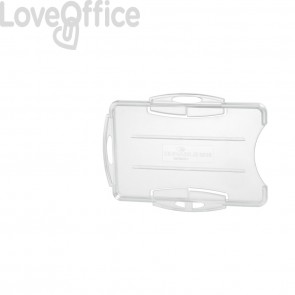 Portabadge DURABLE rigido fronte aperto polistirene trasparente 2 badge 54x87 mm (conf.10)