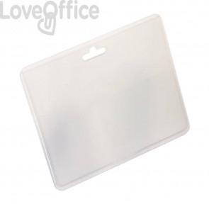 Buste portanome Durable con asola di aggancio - 60x90 mm - trasparente - orizzontale (conf.100)