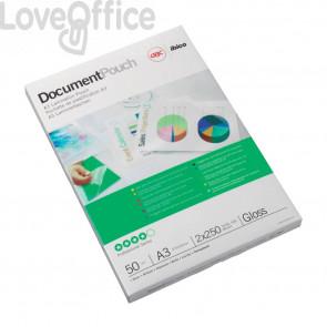 Pouches per plastificatrici GBC formato a3 30,3x42,6 cm 2x75 µm lucido - 3200745 (conf da 100)