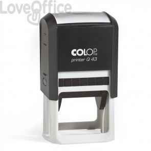 n. 2 timbri autoinchiostranti Colop Printer 60 (76x36mm) e Colop Q43 (43x43mm) personalizzati