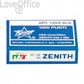 Punti metallici ZENITH 130/E 6/4 (10 scatole da 1000 pezzi)