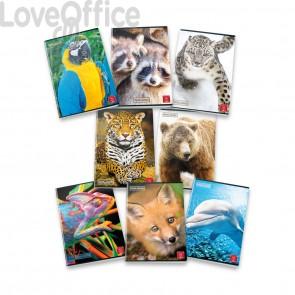 Animal World Pigna Quaderni a quadretti 5 mm senza margine A4 - 40 fogli (conf.10)